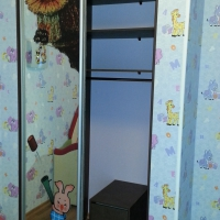 Шкаф купе в детскую комнату с фотопечатью