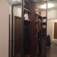Шкаф купе совмещенный с гардеробной комнатой