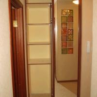 Встроенный двухдверный шкаф купе 7